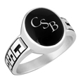 Ring With Inlay -C.S.B. Sisterhood Collection